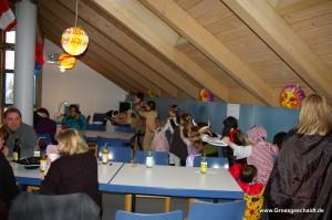 Kinderfasching im Vereinsraum