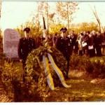Einweihung des Ehrenmals 1978 (Hans Fahner, Konrad Gebhardt), zur Verfügung gestellt von Ewald Glückert